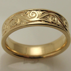 hand engraved gold band