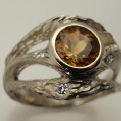 bark engraved belez ring