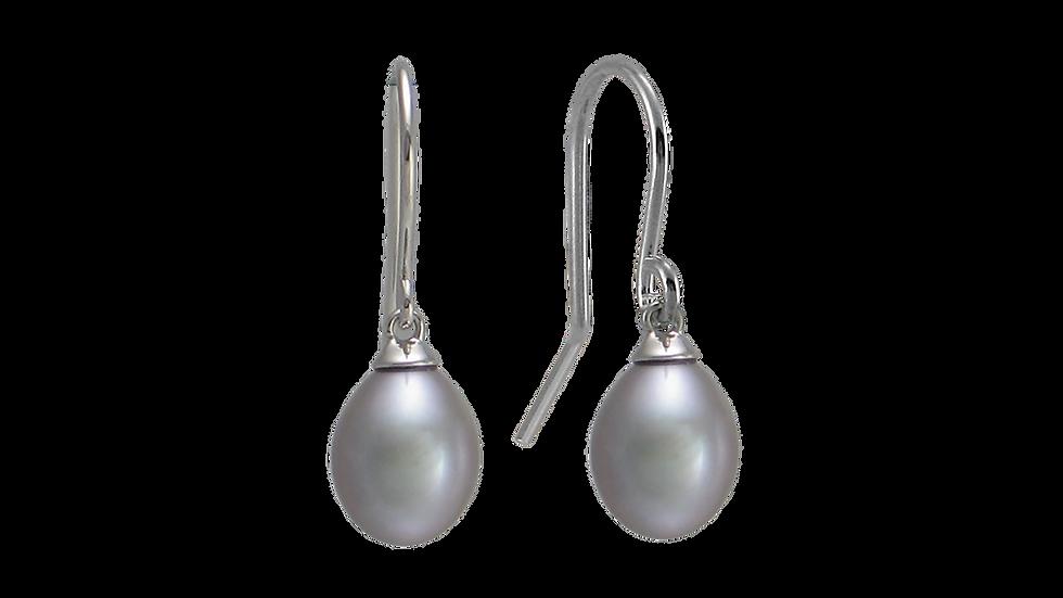 Freshwater Grey Pearl Earrings