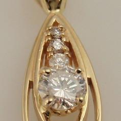 four stone diamond pendant