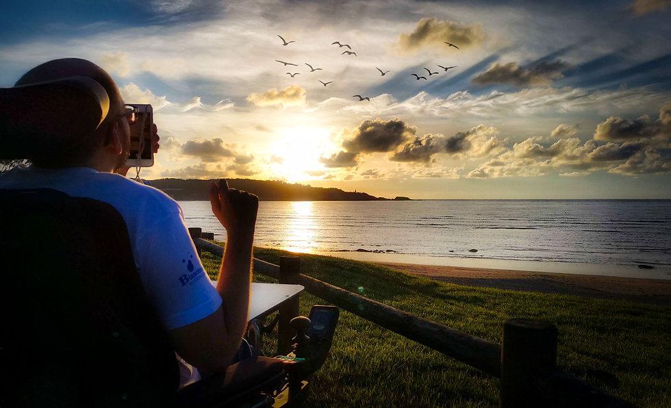 Hendaye-plage, Hugo terrier scenariste à l'hopital marin de hendaye 2019