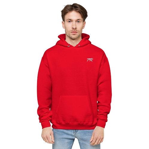 Embroidered fleece hoodie