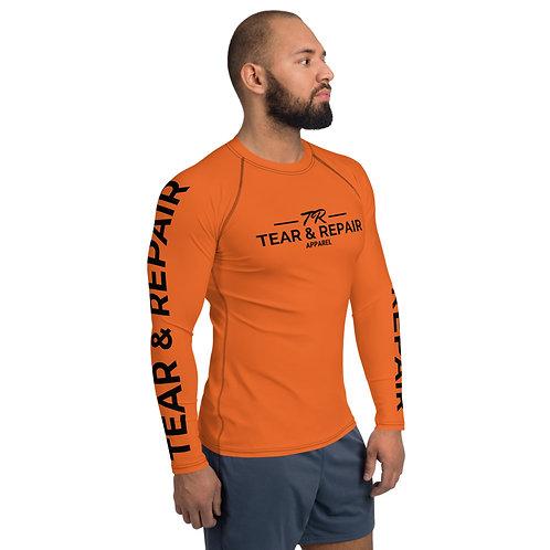 Men's Orange/Black Rash Guard