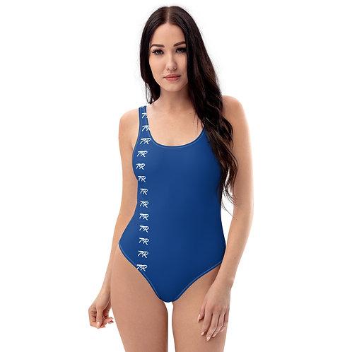 Blue One-Piece Swimsuit