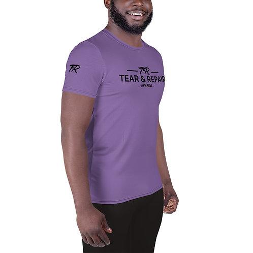 Purple Men's Athletic T-shirt