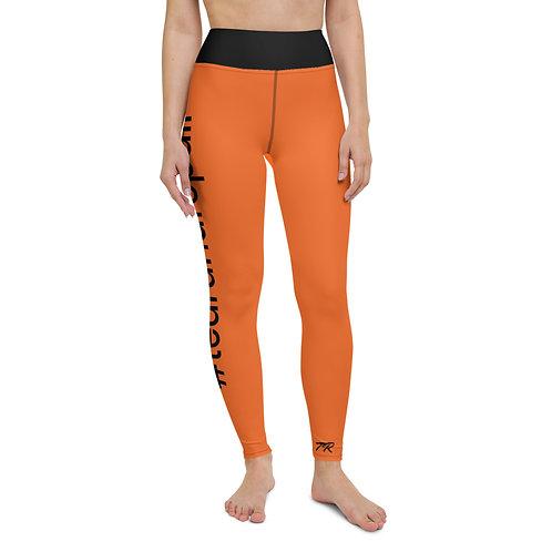 Orange Hashtag Leggings