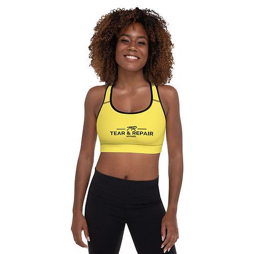 Yellow Padded Sports Bra