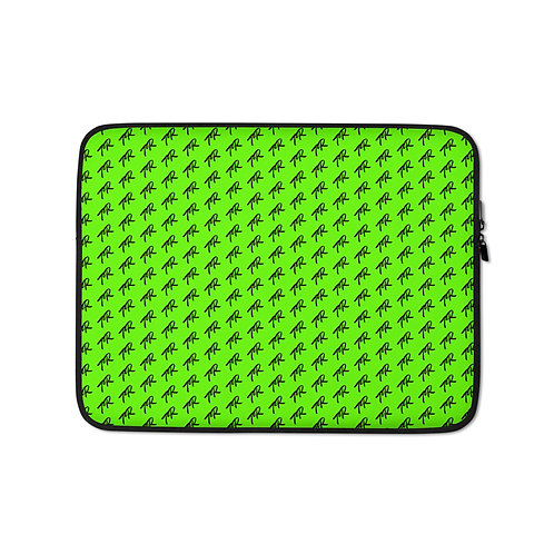 Neon Green2 Laptop Sleeve