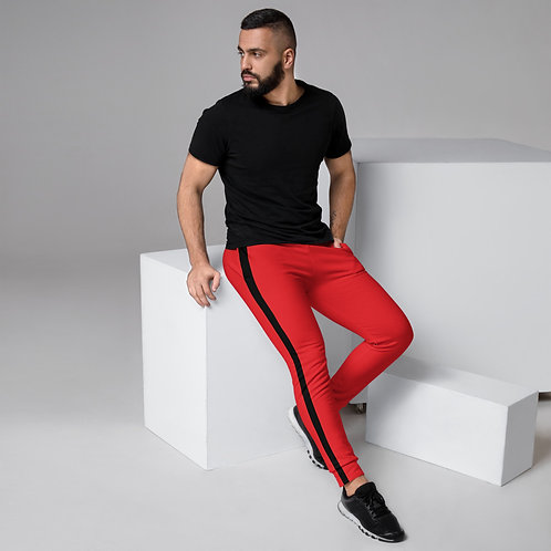 Men's Red Joggers