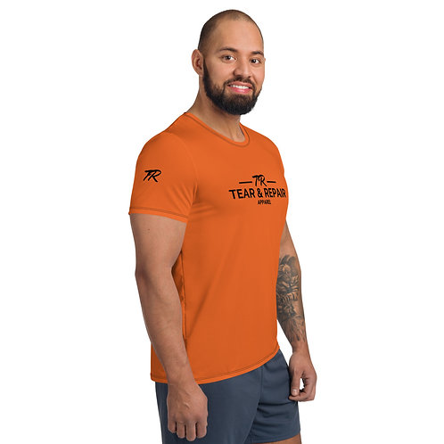 Orange Men's Athletic T-shirt