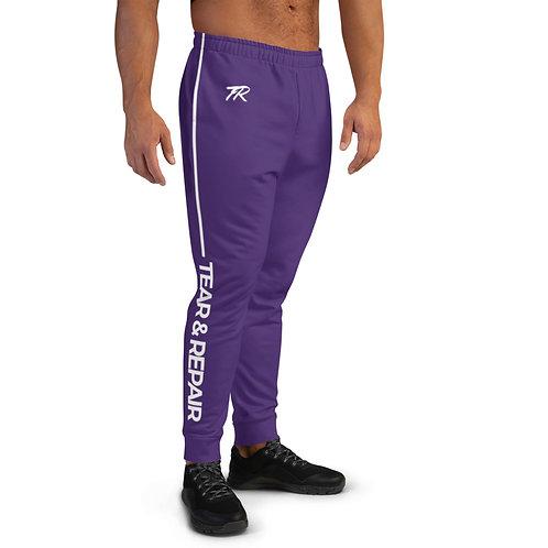 Purple/White Men's Joggers