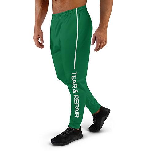 Green/White Men's Joggers