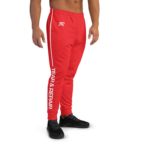 Red/White Men's Joggers