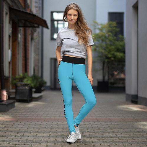 Blue Hashtag Leggings