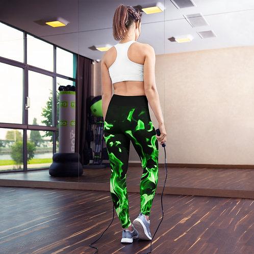 Green Flame Leggings