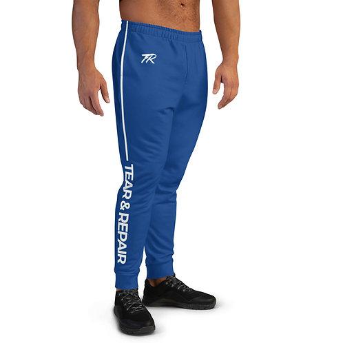 Blue/White Men's Joggers