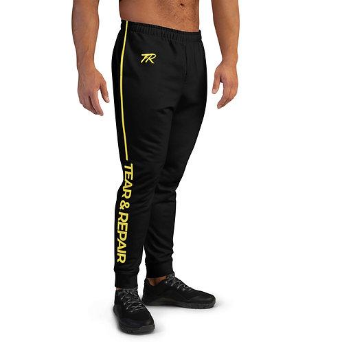 Black/Yellow Men's Joggers