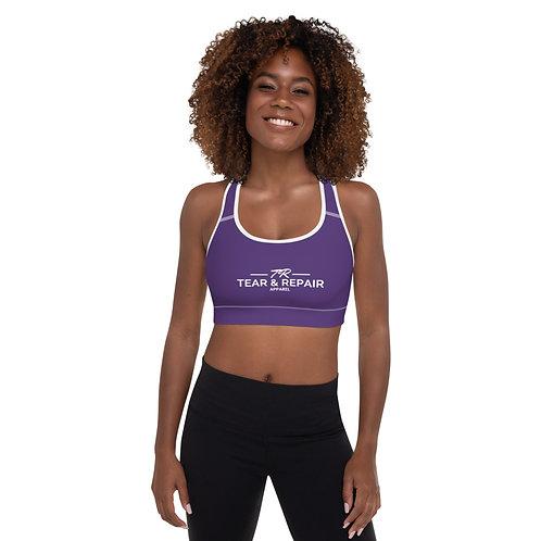 Purple Padded Sports Bra