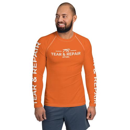 Men's Orange Rash Guard