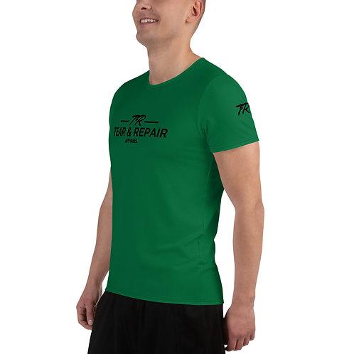 Green Men's Athletic T-shirt