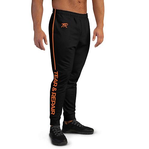Black/Orange Men's Joggers