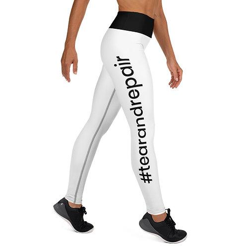 White Hashtag Leggings