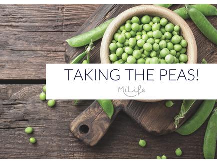 Taking the peas!