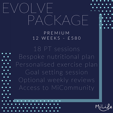 Evolve Package - 12 week personal training and nutrition plan