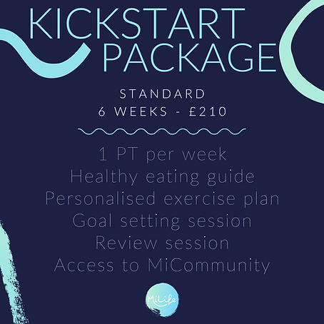 Kickstart Package - 6 week personal training and nutrition plan