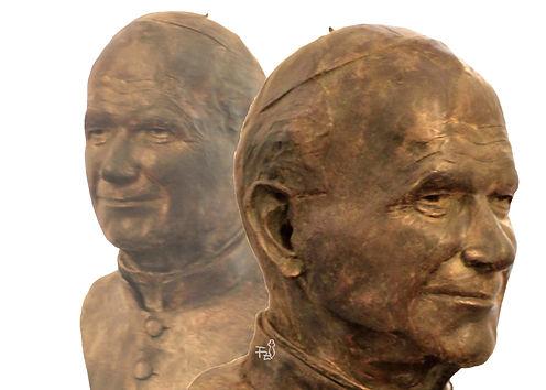 Escultura bronce  Juan Pablo II