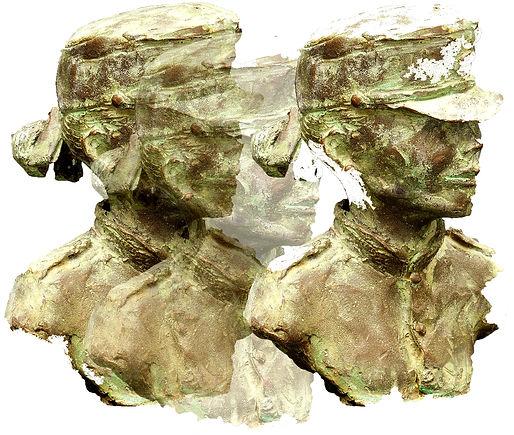 Escultura bronce uniforme Guardia Real