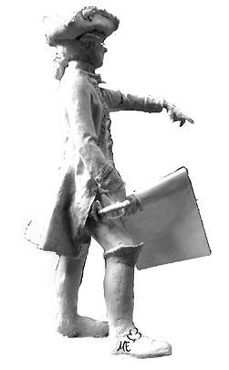 Escultura bronce conde Garzzola