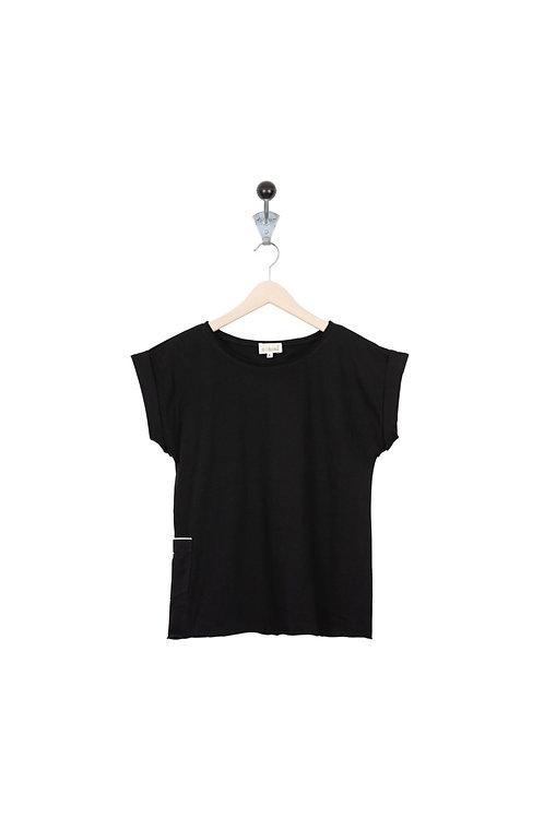 Tee Shirt Maya Col Noir