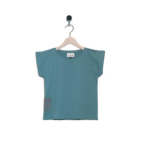 Tee Shirt Léon Col Vert de Gris