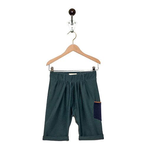 Sarouel Short Aurora Col Vert de gris / Bleu Marine