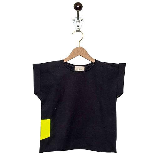 Tee Shirt Leon Col Noir