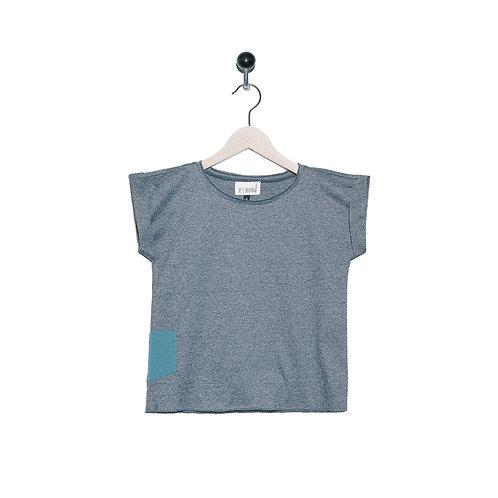 Tee-Shirt Léon Col Gris Chiné