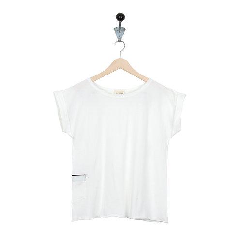 Tee Shirt Maya Col Blanc