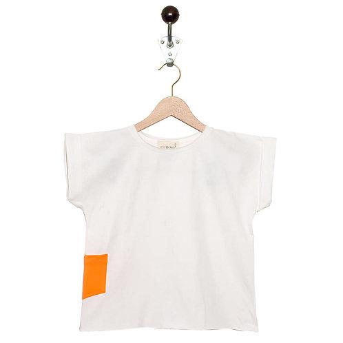 Tee Shirt Leon Col Blanc