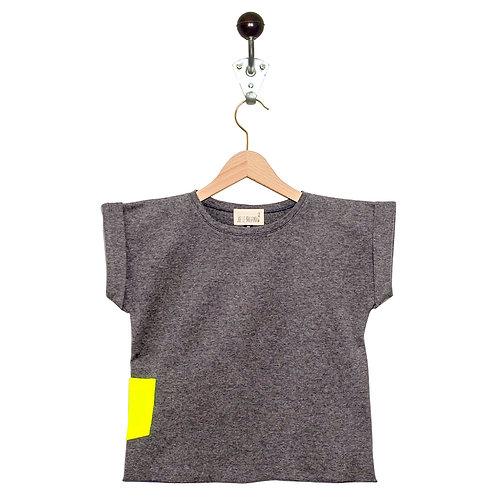 Tee Shirt Leon Col Gris