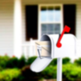 White Mail Box in Front of a House_edite