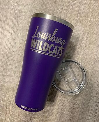 30 oz. Matte Purple Script Stainless Tumbler