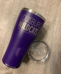 30 oz. Matte Purple Block Stainless Tumbler