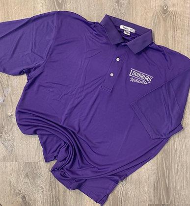 Purple Embroidered Men's Polo