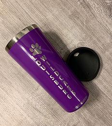 22 oz. Purple Paw Cat Stainless Tumbler