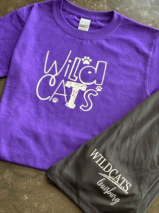 Youth Wildcat Paw Tee
