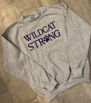 Wildcat Strong Youth & Adult Crew Sweatshirt