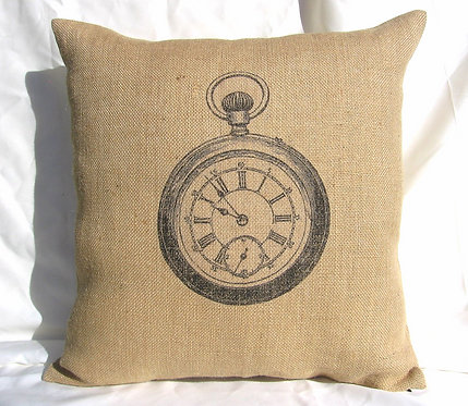 Clock Burlap