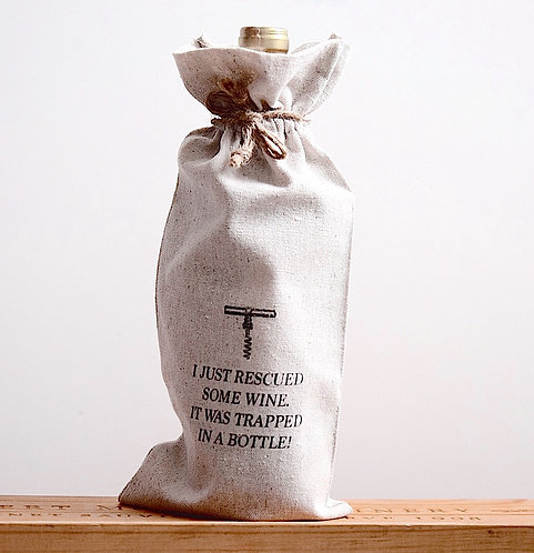 Linen Wine Bottle Sack
