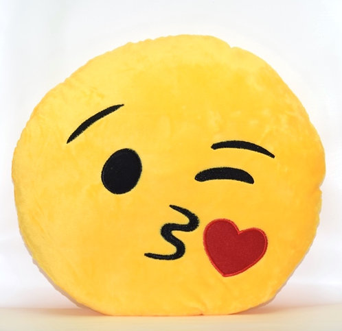 Blowing A Kiss Emoticon Pillow